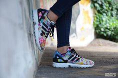 822658068 Adidas x Farm - Zx Flux Women (Lab Blue White) - Sneakerworld