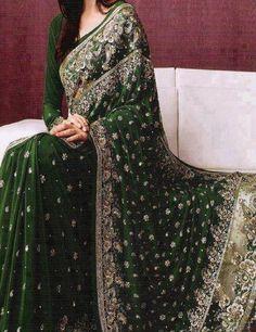 Green Wedding Sari
