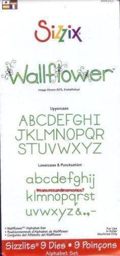 Sizzix Sizzlits Alphabet Set WALLFLOWER Upper & Lower 9 dies