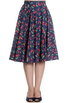 Blue Cherry Skirt
