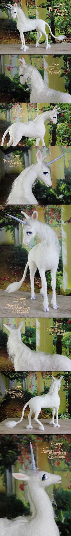 The Last Unicorn - needle felted by Finya-Vardeen.deviantart.com on @DeviantArt
