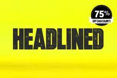 Headlined by Thinkdust on Creative Market