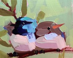 Hummingbird no. 146 Original Bird Oil Painting by by prattcreekart