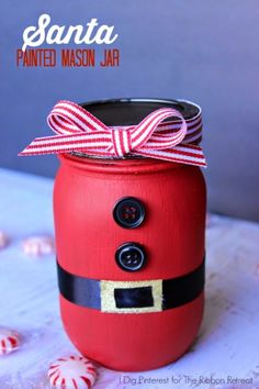 Check out these 130 easy DIY Mason Jar Crafts for Spring and Summer, and they will all make you think uniquely toward the old Mason jars! After a short tour of these DIY Mason jar crafts, you are just not going to end up the mason jars in dumpsters! Mason Jar Christmas Crafts, Jar Crafts, Holiday Crafts, Christmas Diy, Christmas Decorations, Holiday Decorating, Decorating Ideas, Christmas Crafts To Sell Bazaars, Rustic Christmas