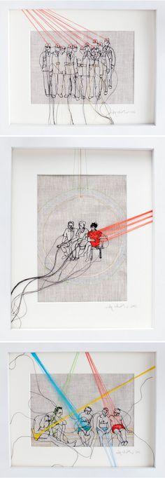 an older series, titled Fundamental Reports. - by LA based German artist Nike (pronounced Nee-ka) Schroeder