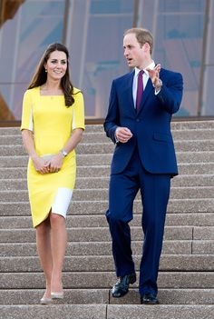 Prince William, Duke of Cambridge and Catherine, Duchess of Cambridge walk near the Sydney Opera House as they attend a reception hosted by the Governor and Premier of New South Wales on April 16, 2014 in Sydney, Australia. The Duke and Duchess of Cambridge are on a three-week tour of Australia and New Zealand, the first official trip overseas with their son, Prince George of Cambridge. (Photo by Arthur Edwards – WPA Pool/Getty Images)
