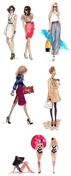 "I consider these Fashion Sketches ""art""!  #artIlike"