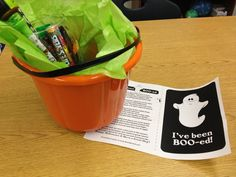 You've Been Boo-ed!   (Staff morale booster)