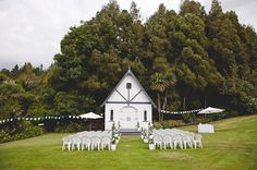 // New Zealand Small Chapel Ceremony Little White Chapel. Chapel Wedding, Wedding Bells, Dream Wedding, Wedding Day, Wedding Chapels, Church Wedding, Wedding Shoes, When I Get Married, Getting Married