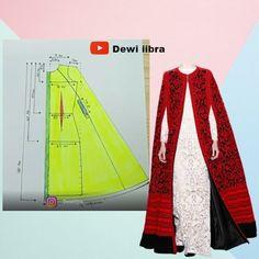 Cape Coat, Abayas, Sewing Basics, Fashion Sewing, Muslim Fashion, Clothing Patterns, Peplum, Kimono, Leather Jacket