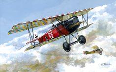 1918 06 Jasta 4 Fokker DVII (OAW) early Ernst Udet - Taras Shtyk - Roden