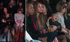 Perched and poised on the front row at New York Fashion Week, the editor of US Vogue looked distinctly unimpressed after Kim Kardashian's toddler daughter North started bawling.