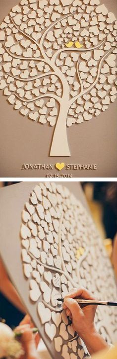 Wedding Tree - Frame this wooden tree to enjoy your guests' love long after your special day.