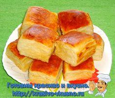 Очень вкусный пирог с сыром. С благодарностью за рецепт автору diana1616.  Ингредиенты:  Молоко – 200 млДрожжи (сухие) – 1,5 ч.л.Сливочное масло (в тесто – 50 гр.;для смазывания слоёв – 120 гр.) -170Яй…