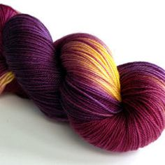 "Tough Love Sock yarn in ""Honey Fig"" colorway, $24 CAD from Sweet Georgia Yarns."