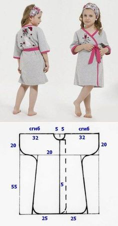 Baby Girl Dress Patterns Baby Clothes Patterns Love Sewing Baby Sewing Sewing For Kids Little Girl Outfits Kids Outfits Frock Design Sewing Clothes Motif Kimono, Kimono Pattern, Pattern Sewing, Crochet Patterns, Girl Doll Clothes, Sewing Clothes, Diy Clothes, Fashion Kids, Baby Outfits