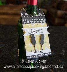 Altered Scrapbooking: 'Cheers!' Wine Bottle Tags
