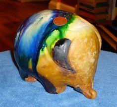 MidCentury Modern Gli Etruschi Glazed Terra Cotta Elephant - created by artist Ivo De Santis by 7AWestCollectibles