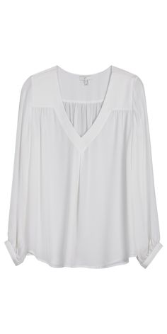 LOVE this pretty white blouse! Dress it up or down. Always elegant ...