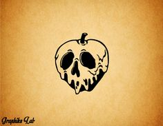 Poisonous Apple Decal Rotten Bad Apple Vinyl Decal