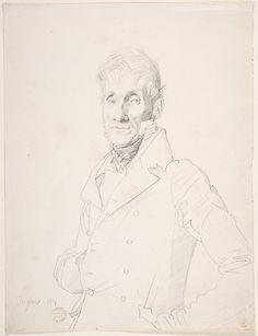 Jean Auguste Dominique Ingres | Portrait of a ManbyJean Auguste Dominique Ingres (French, Montauban 1780–1867 Paris)