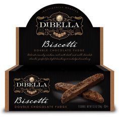 Amazon.com : DiBella - Double Chocolate Fudge Biscotti : Grocery & Gourmet Food