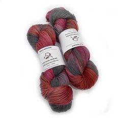 Hand Dyed 8 ply Merino Yarn Charcoal Red | Shop Knitting Wool Yarn Online  #sallyridgway #sallyridgwaydesigns #australianyarn #handdyedyarns #madeintasmania #indiedyersofig #knittingaddicts #knittersofinstagram #aussieknitters #tasmanianyarn #tassieyarndyer #tassieyarn #yarndyeroftasmania #yarnlove #indiedyeroftasmania #tassieyarn #tascraftfair #buylocaltasmania #8plyyarn #yarniesofinstagram Red Plum, Red Shop, Wool Wash, Quick Knits, Dk Weight Yarn, Knitting Wool, Sock Yarn, Hand Dyed Yarn, Knit Beanie