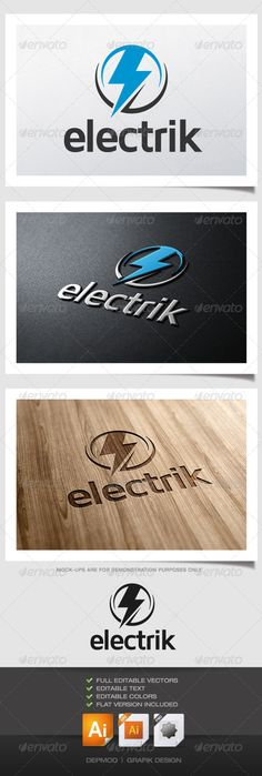 Electrik Logo  #GraphicRiver         Logo of a bolt shape in a circle (electric). Can be used for many kind of project. Full vectors, this logo can be easily resize and colors can be changed to fit your colors project. Flat (black) version for print also included. The font used is in a download file in the package.   Font :  .fontsquirrel /fonts/maven-pro   Files provided : .ai (CC and CS), .eps, .jpg, .png (transparent)     Created: 27June13 GraphicsFilesIncluded: TransparentPNG…