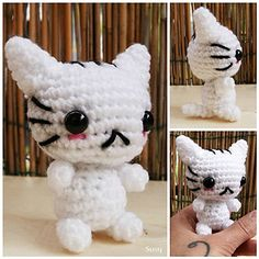 Ravelry: Cute Little Cat pattern by Ice's Handmade Crochet