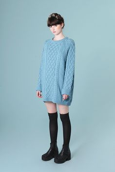 Oversized Knit Jumper Sky Blue | The Whitepepper  I need a jumper like this in my life