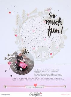 Layout *So much fun* - Crate Paper *heart day* und *snow and cocoa* - von Ulrike Dold