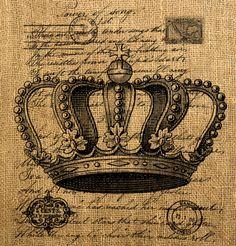 Vintage Post  Crown Letter