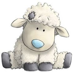 Cottonsocks the Sheep - Tatty Teddy Friends Tatty Teddy, Teddy Bear, Blue Nose Friends, Illustration Mignonne, Cute Illustration, Cute Images, Cute Pictures, Animal Pictures, Beautiful Pictures