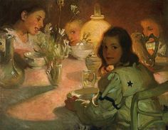 Jean MacLane, Tea Time,  early 20th century