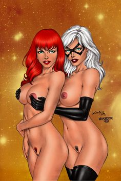 Black cat cartoon porn