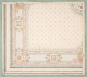 Jules-Edmond-Charles Lachaise | Design for a paneled ceiling to be painted in grotesque motifs | The Met Art Object, Metropolitan Museum, Ceiling, Hand Painted, Artwork, Painting, Design, Home Decor, Work Of Art