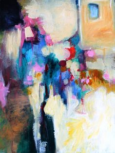 Modern Abstract Expressionist Painting on by kerriblackmanfineart, SOLD