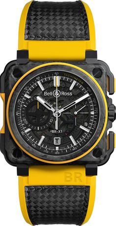 The Bell & Ross celebrates the brand's sponsorship of the Renault Sport Formula One team. It is on sale only at Grand Prix races. Diesel Watches For Men, Best Watches For Men, Luxury Watches For Men, Sport Watches, Cool Watches, Bell Ross, G Shock, Dream Watches, Watch Sale