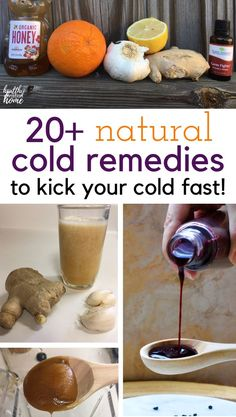 Holistic Remedies Discover over 20 of the best natural cold remedies for cold and flu season to help you stay healthy through the colder months. List includes tonics, syrups, lifestyle hacks and more! Homemade Cold Remedies, Cold Remedies Fast, Natural Sleep Remedies, Natural Health Remedies, Natural Cures, Herbal Remedies, Holistic Remedies, Cough Remedies, Holistic Healing