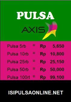 Pulsa murah Axis isipulsaonline.net