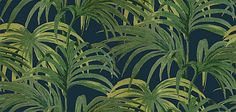 Palmeral Midnight/Green wallpaper by House Of Hackney