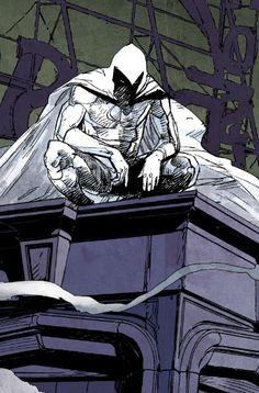 Moon Knight by Alex Maleev Comic Book Artists, Comic Book Characters, Comic Book Heroes, Marvel Characters, Comic Character, Comic Books Art, Comic Art, Character Design, Marvel Art