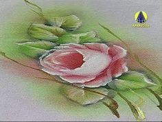 Vida com Arte | Pintura em Tecido Molhado Motivo Rosas por Luis Moreira ...