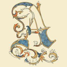 """Résultat de recherche d'images pour """"écriture calligraphie médiévale"""""""