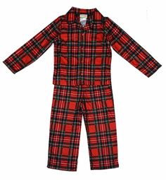 7dd0c2c5a8 Peas   Carrots   Komar Kids Boys Red Christmas Holiday Plaid Tailored Pajamas  Holiday Pajamas