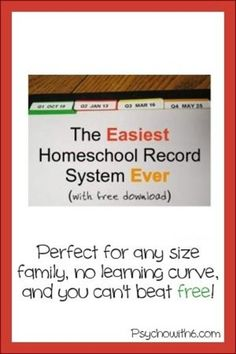 This is the easiest homeschool record system I've ever tried and I've tried a lot! Best of all, it's free. Printables you can customize.