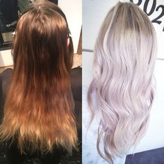 Balayage before and after by April Hills