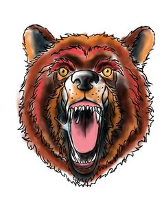 The Great Grizzly Bear and its pretty pissed of! Oldschool bear
