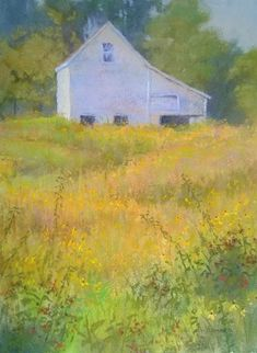Minnesota artist Gibbs Farm by Cheryl LeClair-Sommer Soft pastel with watercolor underpainting ~ x Soft Pastel Art, Paintings I Love, Landscape Paintings, Landscapes, Acrylic Painting Canvas, Cheryl, Home Art, Art For Kids, Barns