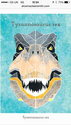 Geometric dinosaur head